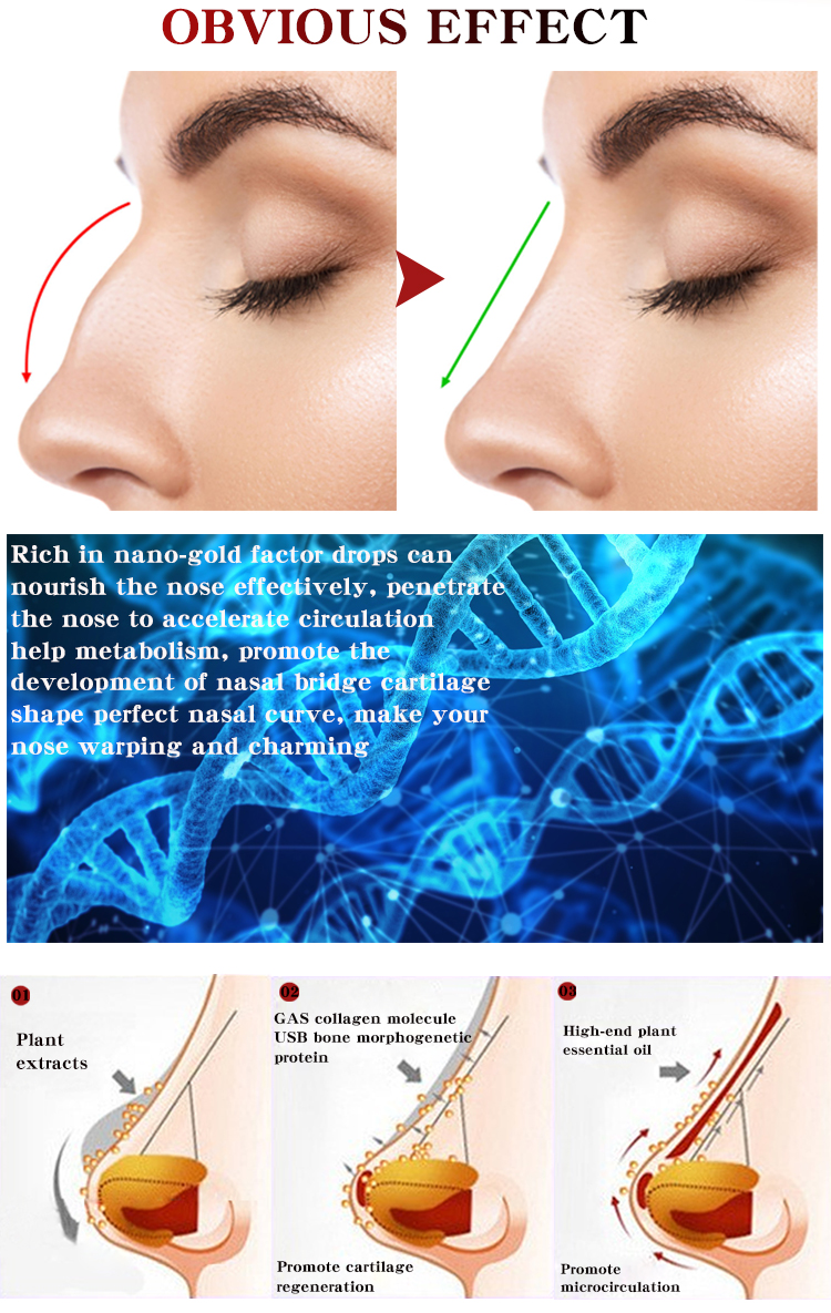 Nose Up Heighten Rhinoplasty oil 30ml Nose Up Heighten Rhinoplasty Nasal Bone Remodeling Pure Natural Care Thin Smaller nose