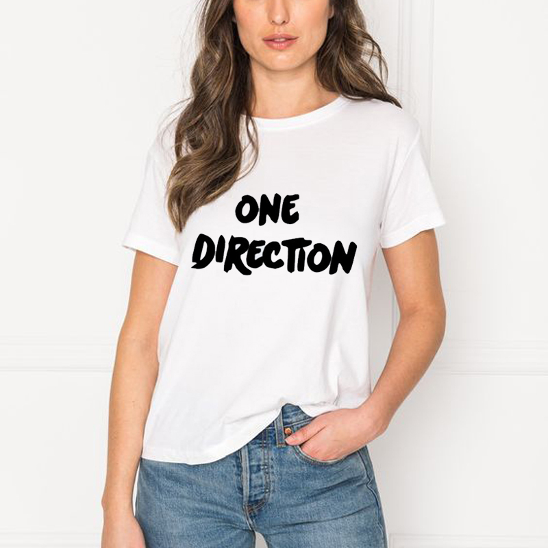 T Shirts Women 2019 Summer Top Mujer ONE DIRECTION T Shirt Punk Grunge Harajuku Graphic T Shirts Tee Shirt Femme