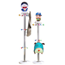 Children's coat rack landing cartoon hanger hanger creative bedroom girl clothes rack stainless steel