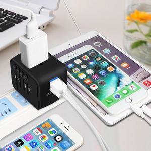 Image 3 - LONGET Universal Travel Adapter Auto Zurücksetzen Sicherung baby sicher design 2 USB Weltweit Wand Ladegerät für UK/EU/AU/Asien