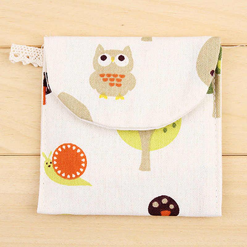 Bolsa de toallas sanitarias bolsa de almacenamiento de servilletas sanitarias bolsas de baño con forma de dibujos animados llavero monedero de tarjeta de crédito Paquete de algodón