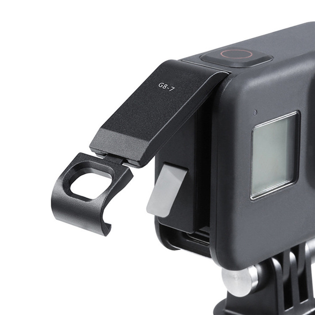 Chargeable Battery Lid Door Battery Cover G8 7 For GoPro Hero Black 8 Sports Camera Removable Type C Charging Port Adapter