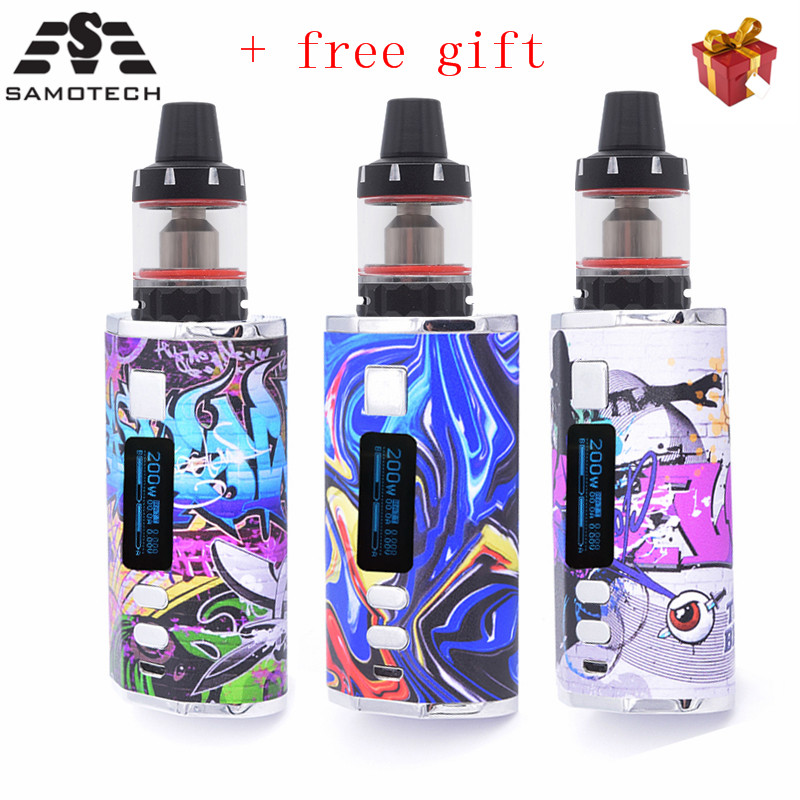 DV 200W Vape Pod Kit 4500mah Build-in Battery With 0.3ohm 3.0ml Tank LED Screen E Cigarette Vape Pen Random Free Sticker