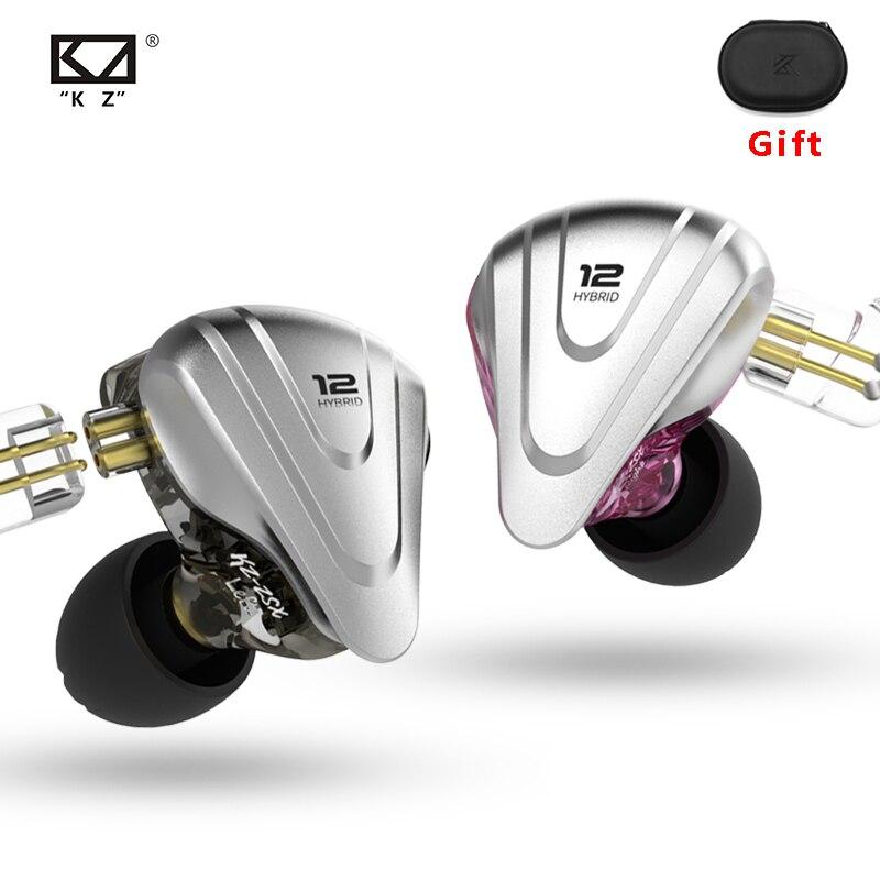KZ – Casque d'écoute hybride, oreillettes de basse ZSX terminator 5BA avec 1DD et 12 pilotes, hi-fi, intra-auriculaires, moniteur sonore, annulation de bruit