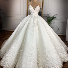 Vintage Lace Wedding Dresses 2021 Casamento 3D Flower Sexy V Neck Spaghetti Strap Bridal Gowns Lace Up Plus Size Wedding Dress