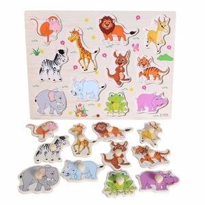 Image 4 - חם תינוק למידה צעצועים לילדים מונטסורי יד לתפוס לוח מוקדם חינוכי צעצוע Cartoon רכב/בעלי ילדים