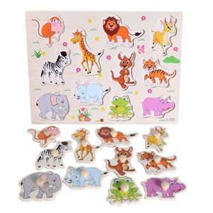 Image 4 - Hot Baby Learning Toys for Children Montessori Hand Grab Board Early Educational Toy Cartoon Vehicle/ Animal Wooden Puzzle Kids