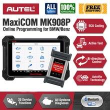 Autel MaxiCOM MK908 Proเครื่องมือวินิจฉัยJ2534ผ่านเครื่องมือการเขียนโปรแกรมECU Coding MK908Pดีกว่าMS908 PRO MS908P