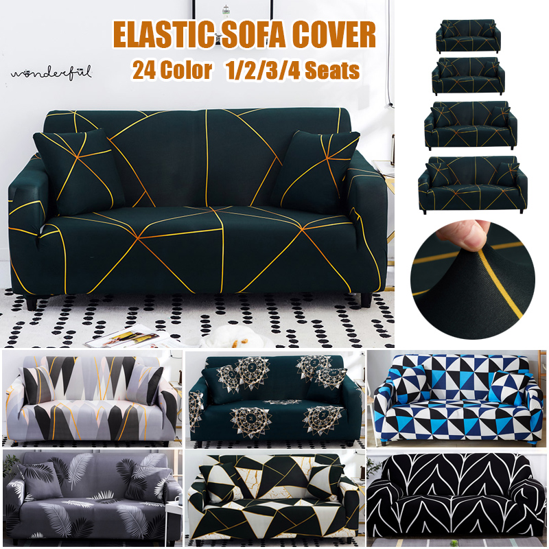 Geometric Elastic Sofa Covers For Living Room Stretch Modern Non-slip Couch Cover Sofa Slipcover Chair Protector 1/2/3/4 Seater