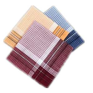 Ladies Handkerchief Chest-Towel Pocket Plaid Stripe Hanky Squares Business Polyester