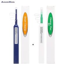4PCS/lot FTTH Optical Fiber pen tool 2.5mm LC MU 1.25mm SC FC ST LC Connector Optical Smart Cleaner