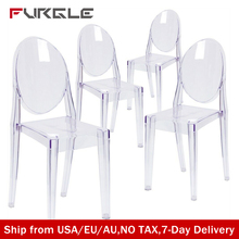 Ghost Chair Dressing-Table Victoria Dining-Room Garden Wedding Transparent Kitchen 6-Nordic