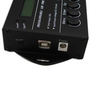 Image 3 - 무료 배송 프로그래밍 가능한 시간 프로그래밍 가능 RGB LED 컨트롤러 DC12V/24V 5 채널 총 출력 20A 공통 양극 TC420/TC421