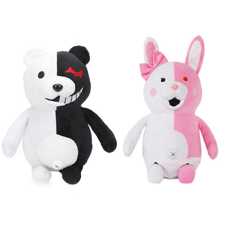 25cm Dangan Ronpa Plush Toys Danganronpa2 Monokuma Black & White Bear Plush Toy Stuffed Animal Dolls Birthday Gift For Children