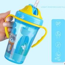 400 мл Милая Детская кружка для кормления с соломенной BPA бесплатно портативная бутылочка для кормления герметичная с ручкой детская тренировочная Tritan Bebe Copos