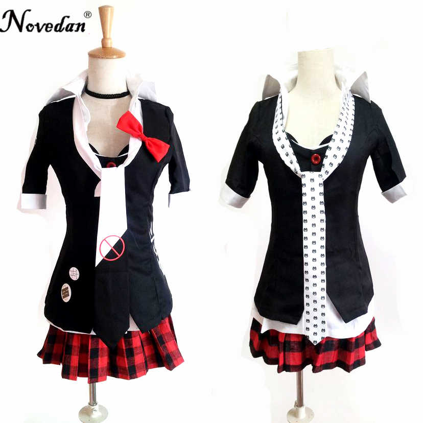 Danganronpa Cosplay Anime Junko Enoshima Emboitement Inushio Kimuchi Dangan Ronpa Trigger Happy Havoc Cosplay Costume