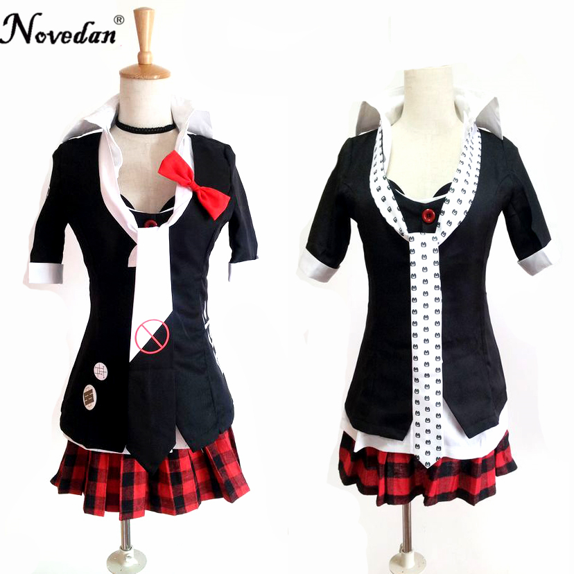 <font><b>Danganronpa</b></font> <font><b>Cosplay</b></font> Anime Junko Enoshima Emboitement Inushio Kimuchi Dangan Ronpa Trigger Happy Havoc <font><b>Cosplay</b></font> Costume image