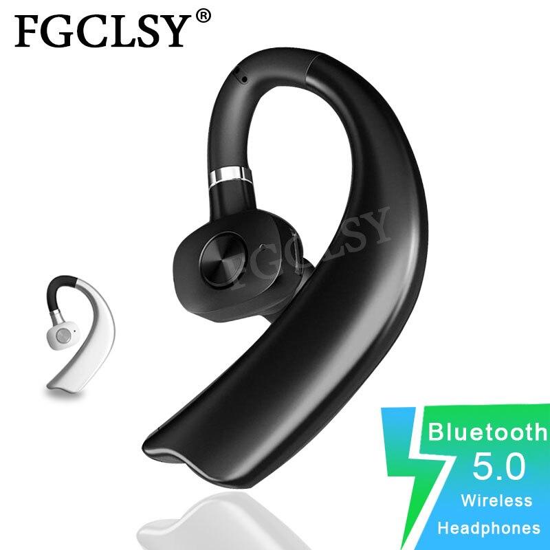 FGCLSY стерео беспроводные Bluetooth наушники V5.0 Громкая связь вызов бизнес гарнитура с микрофоном ушные крючки наушники для iPhone IOS