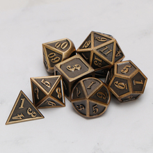 Metal Dnd Dice Sets Dungeons And Dragon D&D MTG RPG Polyhedral Role Playing Ancient Dice Gift 7PCS D20 D12 D10 D8 D6 D4