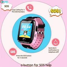 Детские Смарт часы gps sos sim карта монитор телефонных звонков
