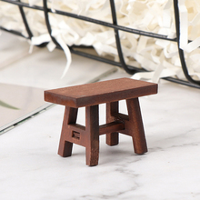 Furniture-Model-Toys Miniature-Accessories Stool-Chair Dollhouse Decoration Bench Retro