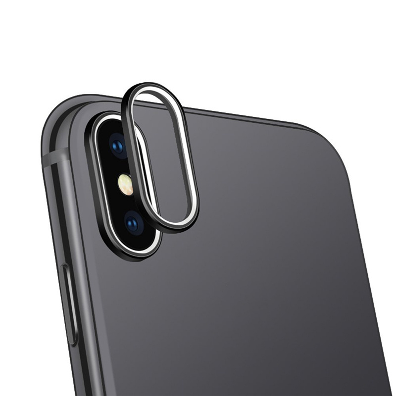 For iPhone X Tempered Glass Rear Camera Lens Protector Guard Cover 3D Back Webcam Protection Filter Man Cellphone Accessories