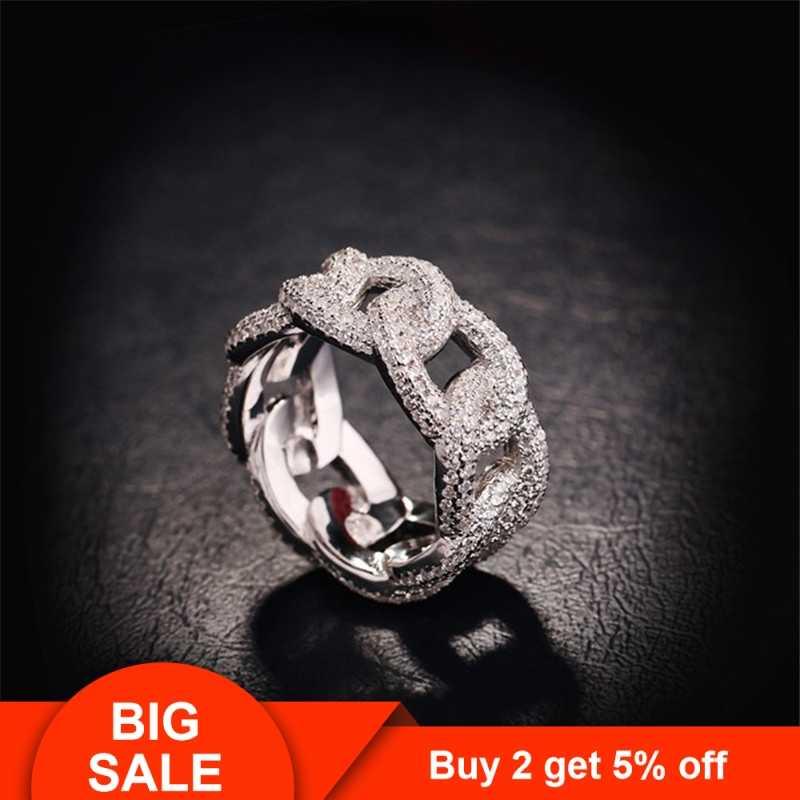 Anillo de compromiso cruzado de la marca choucong, Plata de Ley 925, pavé de 384 Uds. cz, anillo de compromiso para fiesta de boda, anillos para mujeres y hombres, joyería