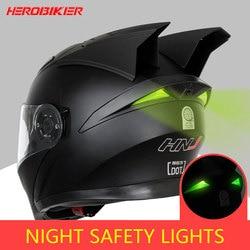 HEROBIKER Motorcycle Helmet Motorbike Modular Dual Lens Helmet Motorcycle Motocross Crash Full Face Helmets Casco Moto Casque#
