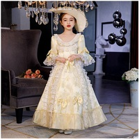 New children's costumes Russian costumes cute girls European style lace court dress baby host girl princess baby dress