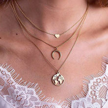 Ywzixln 2020 boho многослойное ожерелье с подвеской в форме
