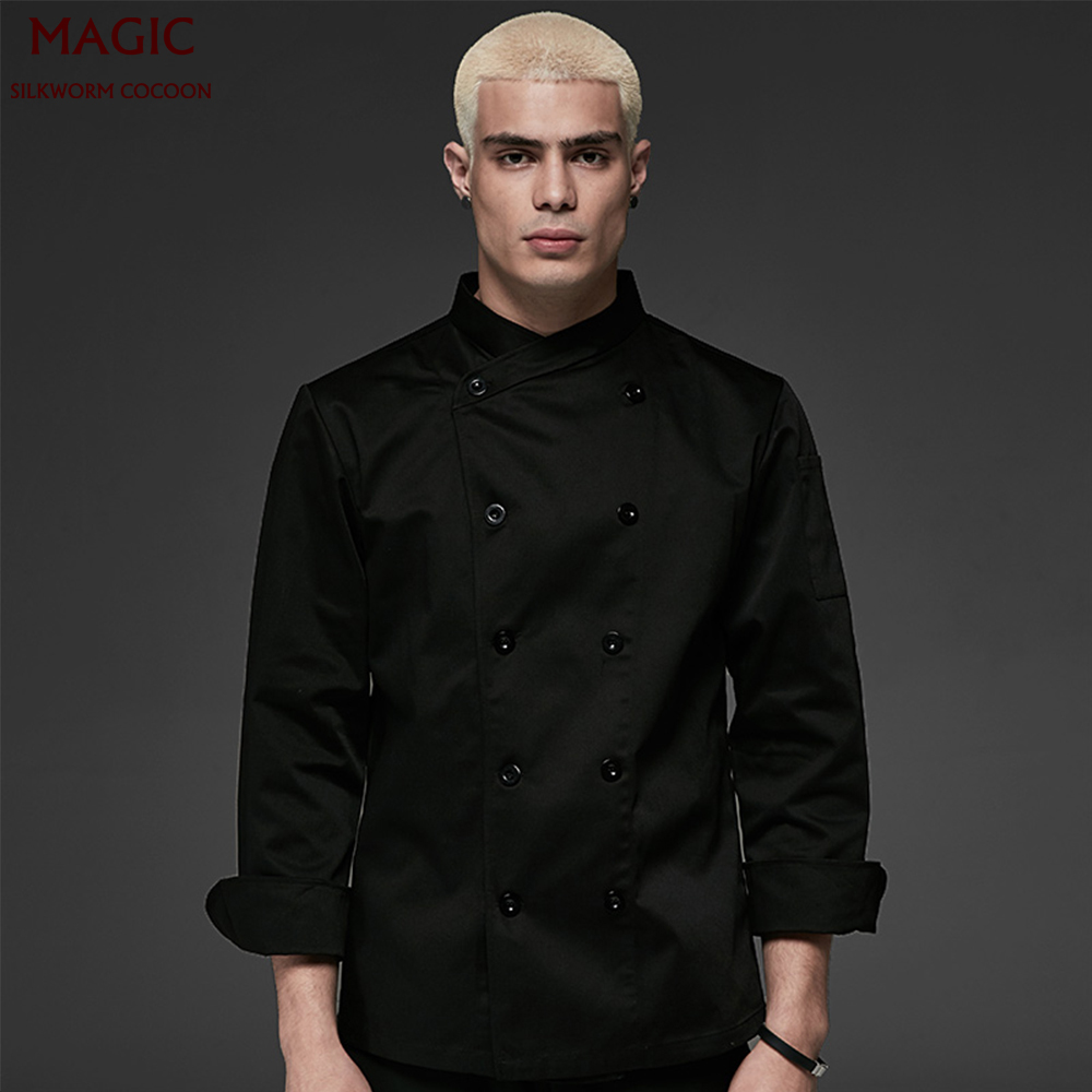 Wholesale Chef Uniform Unisex For Kitchen Work Short Sleeve Double Breasted Cook Wear Chef Jacket Food Service Hotel Uniform