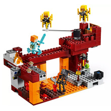 цена на 2019 New my world Series Bricks The Blaze Bridge Compatible Legoing 21154 Building Blocks Toys for Children Christmas Gift