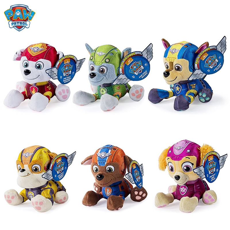 Paw Patrol Dog Plush Paw Patrol Tracker Doll Anime Kids Toys Action Figure Plush Doll Model Stuffed Plush Animals Toy Gift