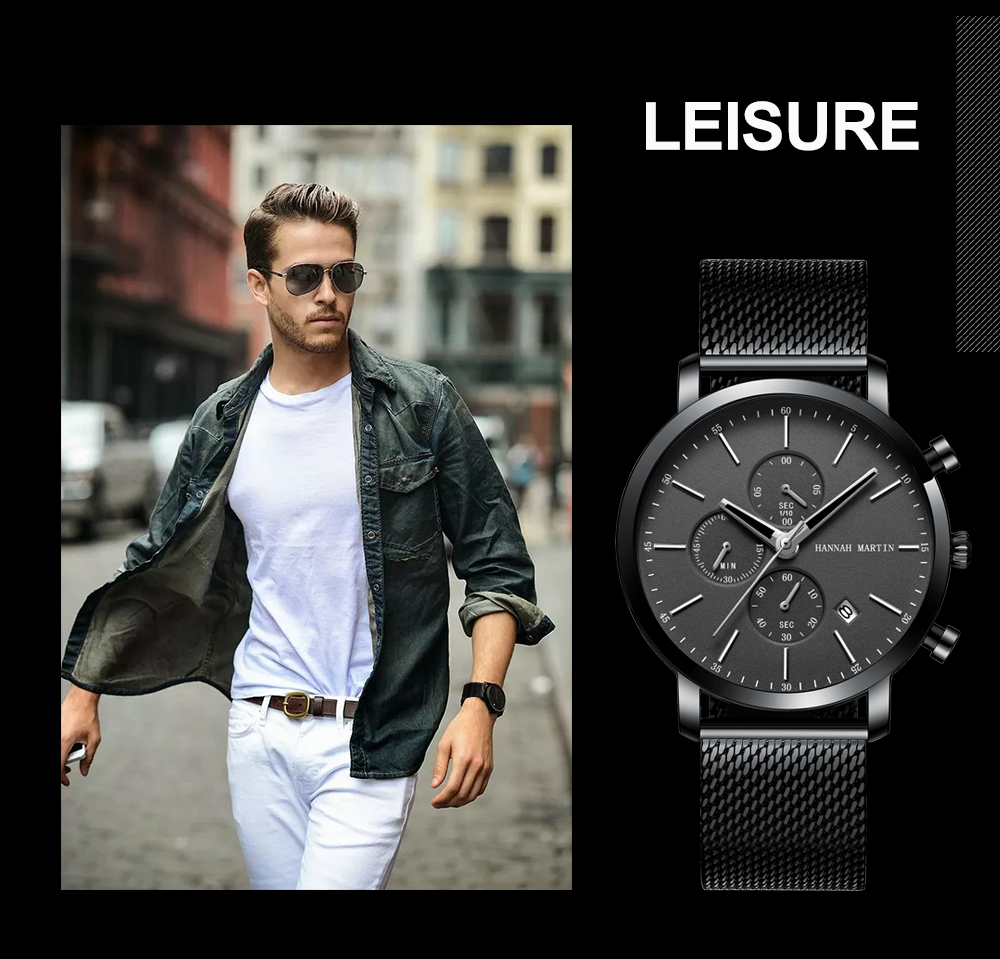 Men Watche Top Brand Fashion multifunction small dial Stainless Steel Mesh business Waterproof Wristwatches Relogio Masculino H6fabe794675c4354bb60a4e5c9d8fea5Q