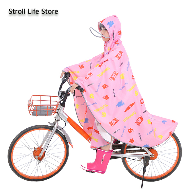 Pink Girl Rain Poncho Kids Raincoat Hiking Children Adult Long Rain Coat Jacket Bicycle Breathable Chest Waders Partner Gift 2