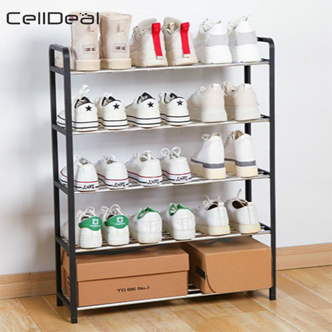 Multi-layer Shoe Rack Aluminum Metal Standing Shoe Rack DIY Shoes Storage Shelf Home Living Room Organizer Accessories