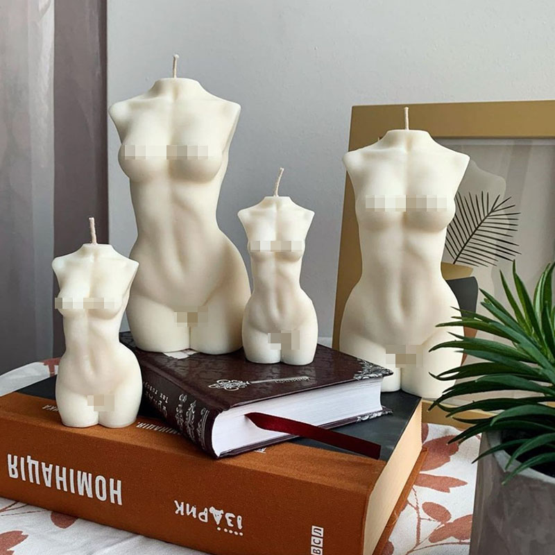 Candle Silicone Mold Design Of Different Human Body Torso 3D Woman Body Candle Mold Body Candle Making