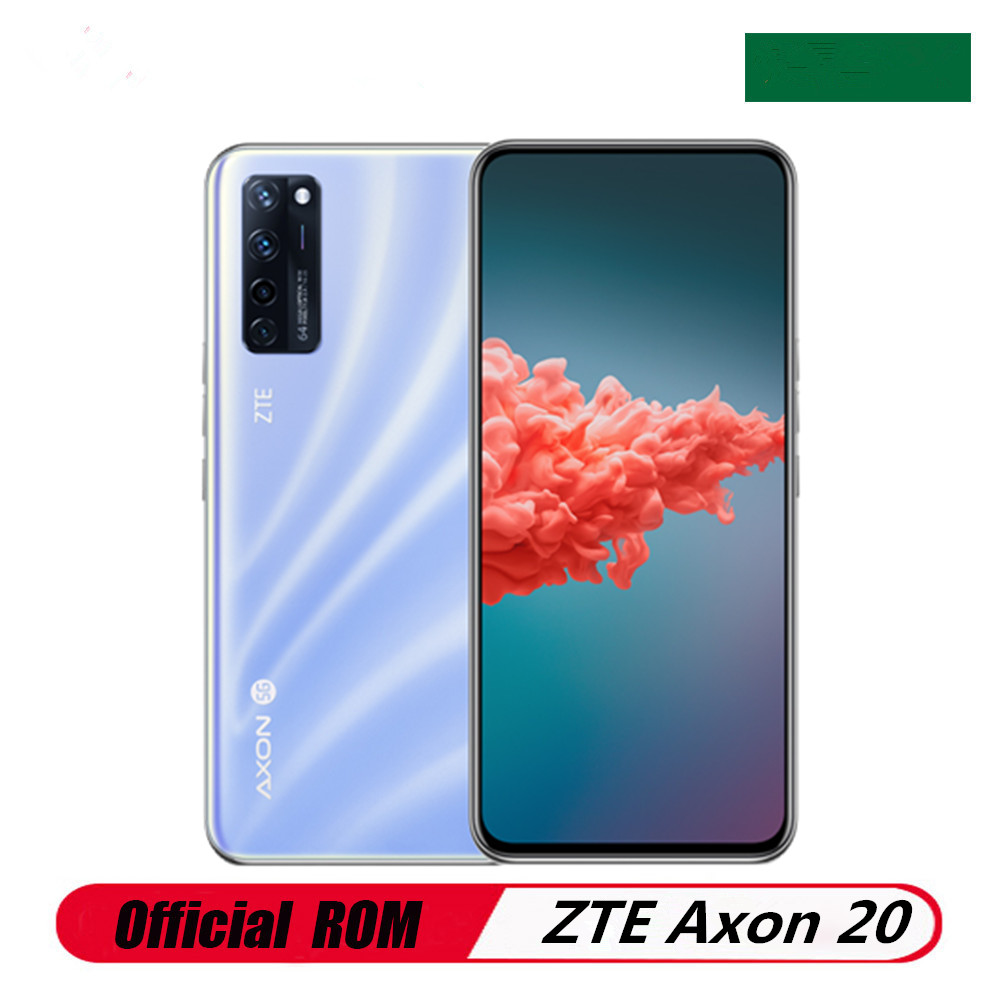 """W magazynie ZTE Axon 20 5G telefon komórkowy 12GB pamięci RAM 256GB ROM 6.92 """"90HZ ekran OLED linii papilarnych Snapdragon 765G Face ID 64.0MP OTA"""