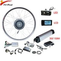 EU RU Duty free 36V 350W Ebike Kit 36V 10AH Lithium Battery Electric Bike Conversion Kit Front Brushless Gear Hub Motor Wheel