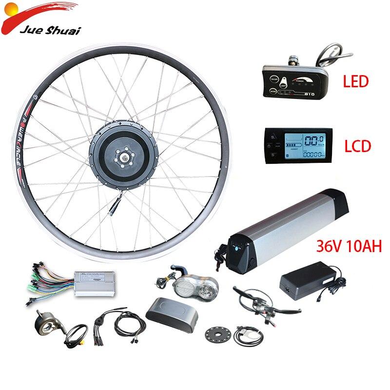 Bateria de Lítio Frente sem Escova Roda do Motor Kit de Conversão Duty Free v 350 w Kit Ebike 10ah Bicicleta Elétrica Cubo Engrenagem ue ru 36