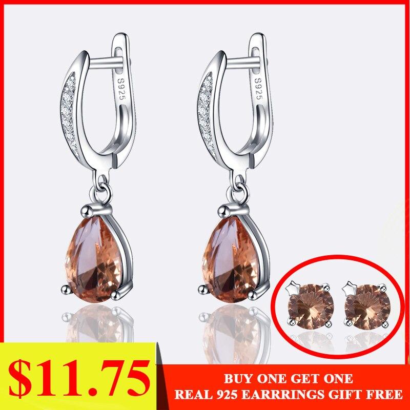 Kuololit Gemstone Clip Earrings Created-Color-Change-Earrings Fine-Jewelry 925-Sterling-Silver