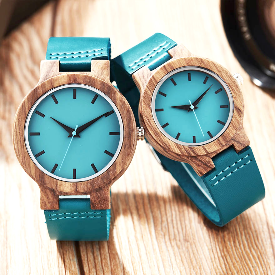 Creative Wood Watch Men Women Wood Watches Couple Wrist Watch Lover Clock Natural Brown Wood Reloj Male Wooden Dial Wristwatch