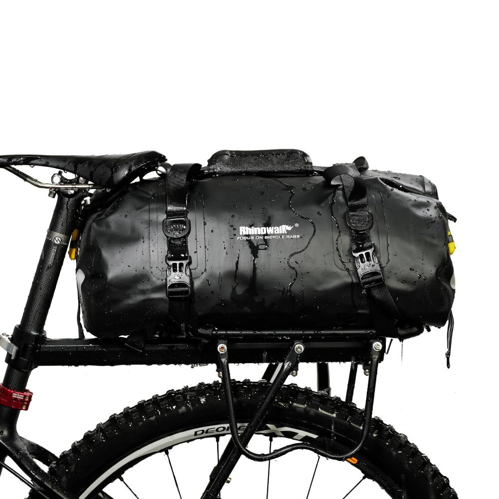 Black 25L Portable Waterproof Cycling MTB Road Bike Bicycle Seat Rear Rack Pannier Bag