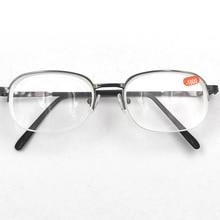 Высокие диоптрии, металлическая полуоправа, унисекс, близорукая близорукость, очки для чтения, полуоправа, сплав, близорукое зрение, Gafas-6,0 to-10 A1