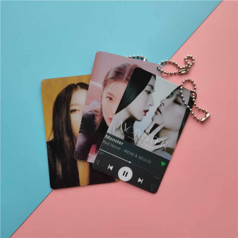 KPOP איירין & SEULGI כפול צדדים PVC כרטיס מפתח שרשרת תליון טלפון תליון תיק אביזרי y90