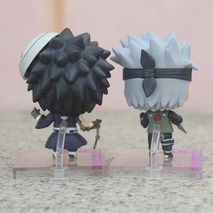 Image 2 - 2 sztuk/zestaw Anime NARUTO Model figurka Uchiha Obito i Hatake Kakashi Q Ver. pvc zabawki figurki akcji