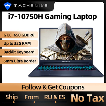 Machenike T90 T58 Gaming Laptop intel i7 10th Gen 15.6 FHD Laptop GTX1650 Computer Laptops 16G RAM 512G SSD 1T HDD Notebook IPS