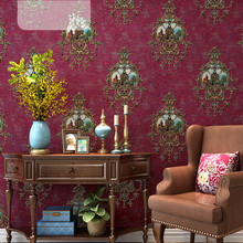 High quality 3D European-style wallpaper luxury non-woven retro American wallpaper home living room bedroom TV background wall цена 2017