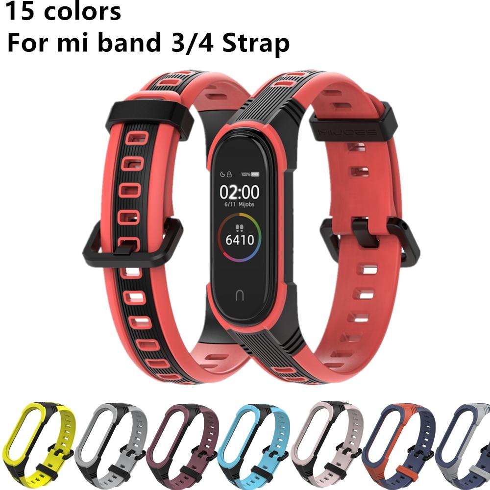 New X Style Bracelet For Mi Band 3 4 Strap MiBand 4 3 Sport Silicone Bracelet For Xiaomi Mi Band4 Smart Watch Band3 Strap