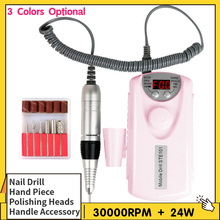 24W/30W Electric Nail Drill Set 3000rpm Electric Nail Polishing Machine Pen Handpiece Dead Skin Removal Tool Manicure Machine